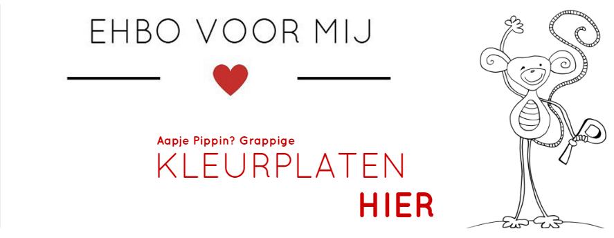 Kleurplaten met Aapje Pippin