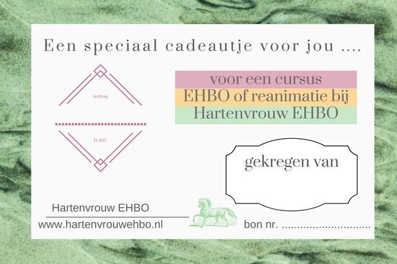 cadeaubon voor een cursus EHBO bij Hartenvrouw EHBO 9